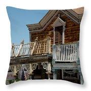 Shooting Gallery Virginia City Nv Throw Pillow
