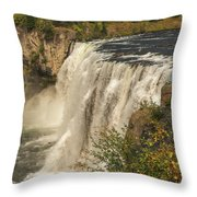 Shooting The Falls Throw Pillow