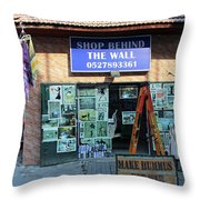 Shop Behind The Wall Throw Pillow