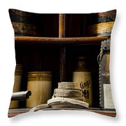 Shop Counter Throw Pillow