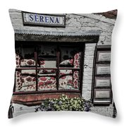 Shop Of Bruges Throw Pillow
