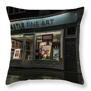Shop Window In Covent Garden Throw Pillow