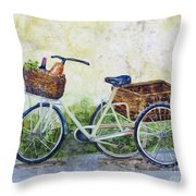 Shopping Day In Lucca Italy Throw Pillow