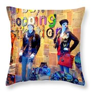 Shopping In Pisa Throw Pillow