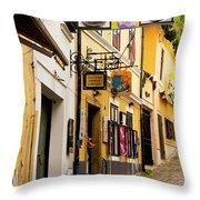 Shopping In Szentendre Throw Pillow