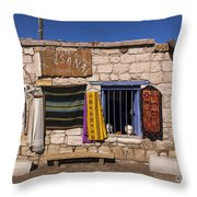 Shopping In Toconao Chile Throw Pillow