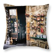 Shopping In Tuscany Throw Pillow