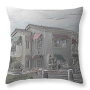 Shopping Mall Laguna Hills Throw Pillow