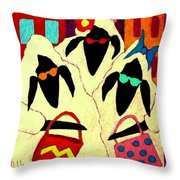 Shopping Sheep Divas Throw Pillow