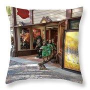 Shopping Street Throw Pillow