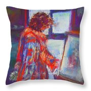 Shopping The Art Fair Throw Pillow