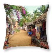 Shops In Madagascar Throw Pillow