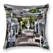 Shops Of Mt. Dora Throw Pillow