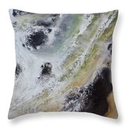 Shore Action 2 Throw Pillow