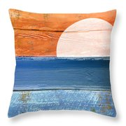 Shore And Sunset Throw Pillow