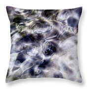 Shore Bubbles  Throw Pillow