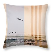Shore Collage Throw Pillow