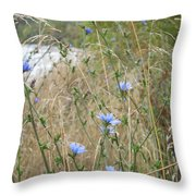 Shore Flowers Throw Pillow