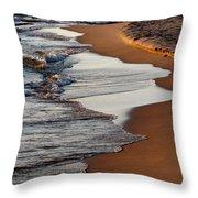 Shore Of Lake Michigan Throw Pillow