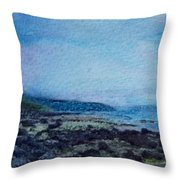 Shore Of Loneliness Throw Pillow