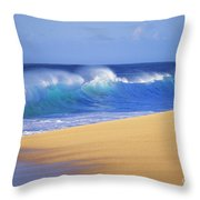 Shorebreak Waves Throw Pillow by Ali ONeal - Printscapes