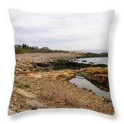 Shoreline Gloucester Massachusetts Throw Pillow