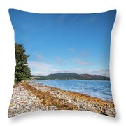 Shoreline On The Kyles Of Bute Throw Pillow