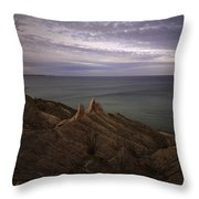 Shoreline Sentries Throw Pillow