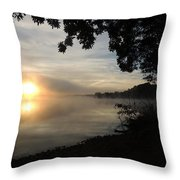 Shoreline Sunrise Throw Pillow