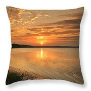 Shoreline Sunset Throw Pillow