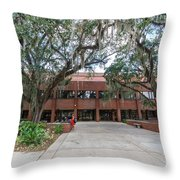 Shores Building At Florida State University Throw Pillow