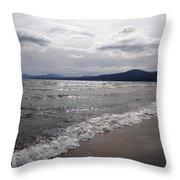Shores Of King's Beach Lake Tahoe Throw Pillow