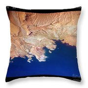 Shores Of Lake Mead Planet Art Throw Pillow