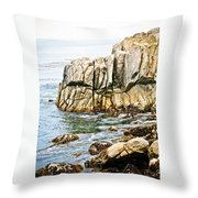 Shores Of Pebble Beach Throw Pillow