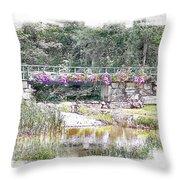 Shorey Park Bridge I Throw Pillow