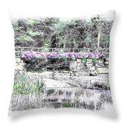 Shorey Park Bridge II Throw Pillow
