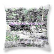 Shorey Park Bridge Throw Pillow
