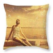 Shorncliffe Pier Pin Up Throw Pillow