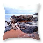 Short Rock Throw Pillow