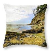 Short Sands Beach, Oregon Throw Pillow