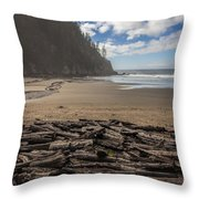 Short Sands Logs Throw Pillow