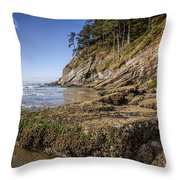 Short Sands Rocks Throw Pillow