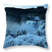 Shoshone Falls Panorama Throw Pillow