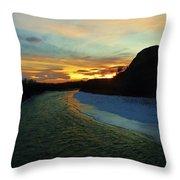 Shoshone River Sunset Throw Pillow