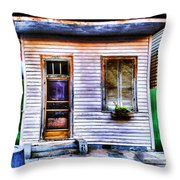 Shotgun House Number 3 Throw Pillow