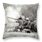 Shots Fired Civil War Throw Pillow