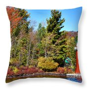 Shoul Point Lighthouse - Old Forge Throw Pillow