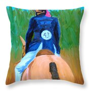 Show Day Throw Pillow