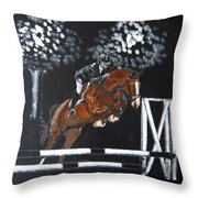 Show Jumper Throw Pillow
