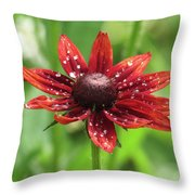 Shower Flower Throw Pillow